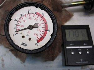 Figura 36 - Manometro 100bar, pressione dopo 6 ore