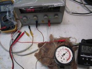 Figura 43 - Manometro 100 bar, pressione con corrente ridotta a 5mA
