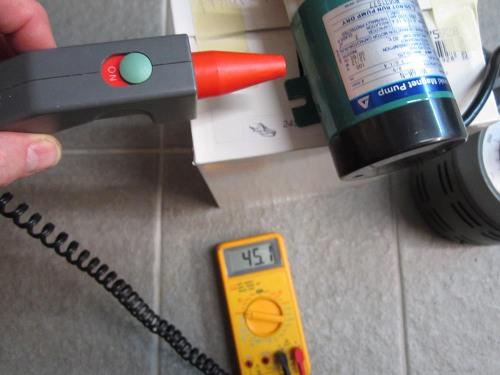 Figure 9 – Pump motor temperature